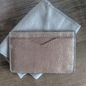 Alexander McQueen Accessories - Alexander McQueen Rib-Style Foil Cardholder